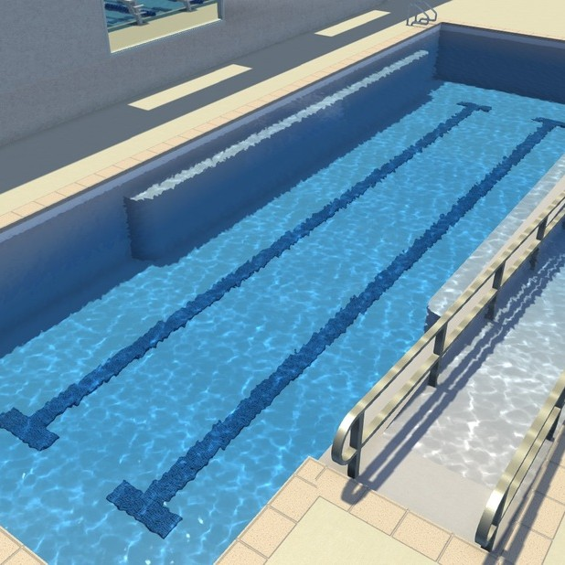 Nexxt Level Aquatic Center - Lesson Pool Rendering