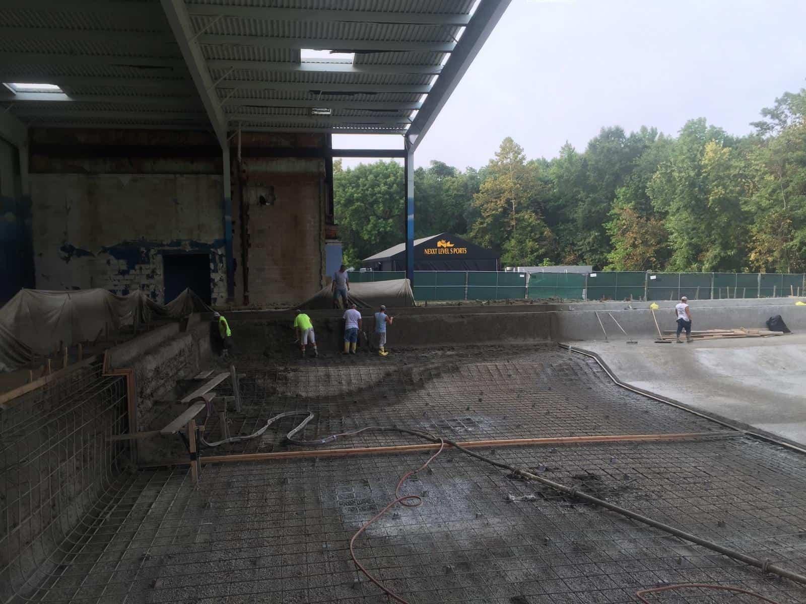 Competition Pool Construction : Facility construction photos nl aquatic center